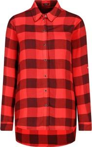 Czerwona koszula Guess Jeans w stylu casual z kołnierzykiem