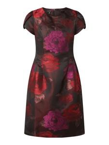 Czerwona sukienka Apart Glamour mini z żakardu