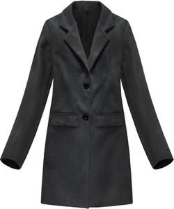 Granatowy płaszcz ITALY MODA