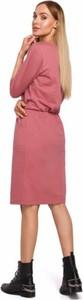Różowa sukienka MOE z bawełny