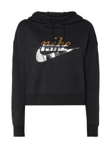 Czarna bluza Nike krótka z dresówki w stylu casual