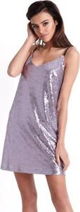 Fioletowa sukienka Ivon na ramiączkach