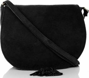 Czarna torebka VITTORIA GOTTI ze skóry przez ramię średnia
