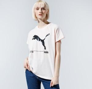 T-shirt Puma w sportowym stylu z okrągłym dekoltem