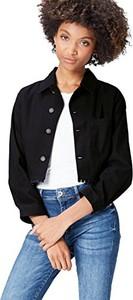 Czarna kurtka Find krótka w stylu casual