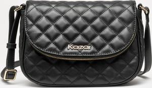 Czarna torebka Kazar ze skóry w stylu glamour