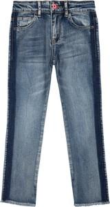 Granatowe jeansy Billieblush w street stylu