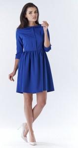 Niebieska sukienka Awama z bawełny