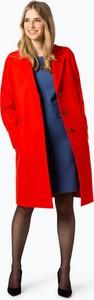 Czerwony płaszcz BOSS Casual z kaszmiru