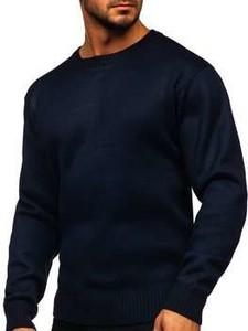 Granatowy sweter Denley z wełny