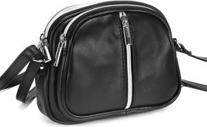 Czarna torebka Domeno w stylu glamour ze skóry