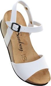 Sandały Sunbay z klamrami ze skóry
