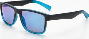 Cropp - Okulary przeciwsłoneczne gradient - Niebieski