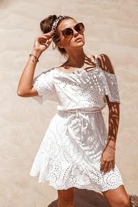 Sukienka Rose Boutique z bawełny z krótkim rękawem mini