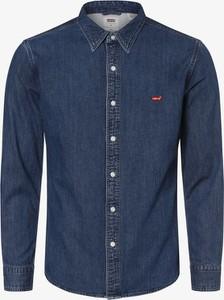 Niebieska koszula Levis z jeansu z długim rękawem