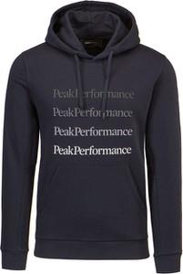 Granatowa bluza Peak performance z bawełny