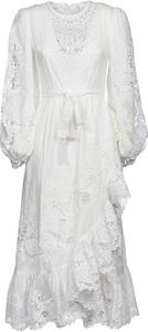 Sukienka Zimmermann z długim rękawem