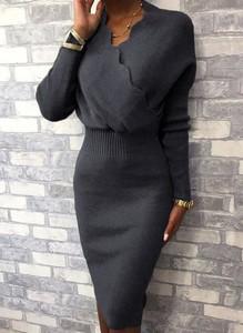 Sukienka Cikelly w stylu casual midi prosta