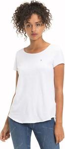 T-shirt Tommy Jeans w młodzieżowym stylu z krótkim rękawem z okrągłym dekoltem