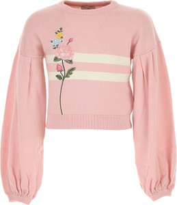 Różowy sweter Monnalisa