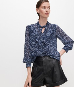 Granatowa bluzka Reserved w stylu casual