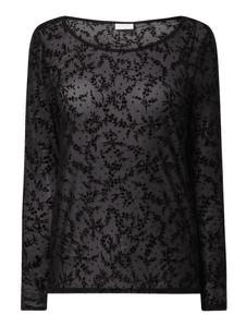 Czarna bluzka Vila z długim rękawem w stylu casual
