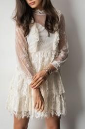 fa1dc8af8e sukienka ecru stylizacja - stylowo i modnie z Allani