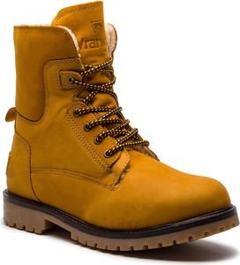 Buty zimowe Wrangler w militarnym stylu sznurowane