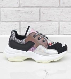 Sneakersy Gemre.com.pl z płaską podeszwą sznurowane