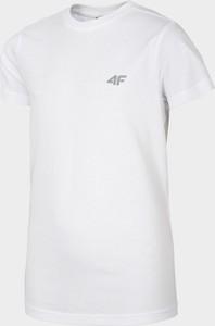 Koszulka dziecięca 4F z bawełny z krótkim rękawem dla chłopców