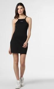 Sukienka Calvin Klein bez rękawów mini z okrągłym dekoltem
