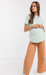 ASOS DESIGN – Maternity High – Jeansy z podwyższonym stanem i szeroką nogawką w kolorze tytoniu-Brązowy