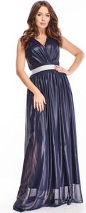 Sukienka Ptakmoda.com z tkaniny z dekoltem w kształcie litery v