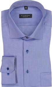 Niebieska koszula Eterna z klasycznym kołnierzykiem z bawełny