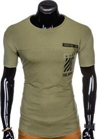 Zielony t-shirt Ombre Clothing
