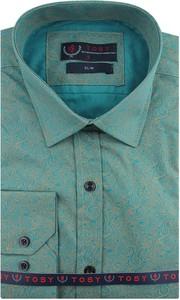 Koszula Tosy z tkaniny z długim rękawem