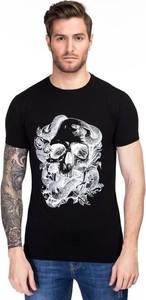 Czarny t-shirt Giacomo Conti