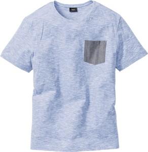 Błękitny t-shirt bonprix bpc bonprix collection