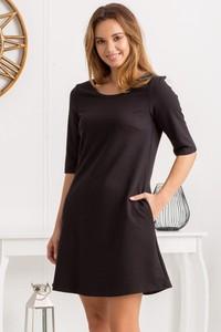 Sukienka Grandio z dresówki z długim rękawem mini