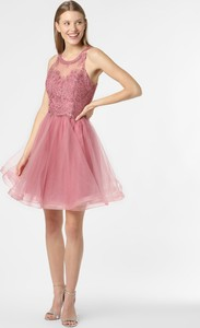 Różowa sukienka Laona mini rozkloszowana