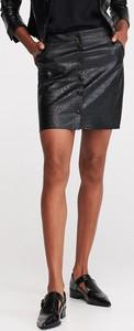Czarna spódnica Reserved mini ze skóry