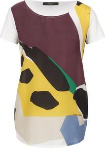 Bluzka Weekend Max Mara z krótkim rękawem z jedwabiu w stylu casual