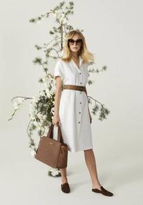 Sukienka Deni Cler mini z krótkim rękawem w stylu klasycznym