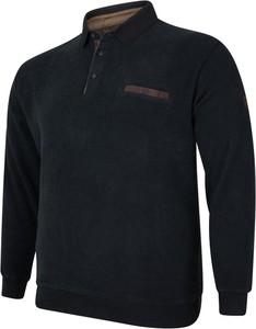 Czarna bluza Bigsize w stylu casual z dresówki