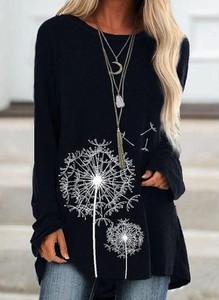 Czarna bluzka Cikelly w stylu casual