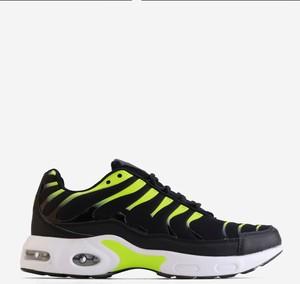 Czarne buty sportowe Yourshoes sznurowane ze skóry