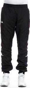 Czarne spodnie sportowe Kappa z dresówki
