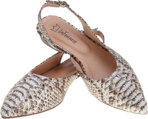 Baleriny Lafemmeshoes ze skóry w stylu klasycznym