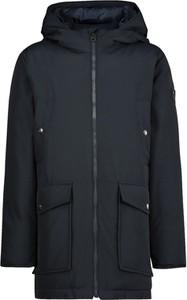 Czarna kurtka dziecięca Woolrich z bawełny