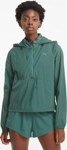 Zielona kurtka Puma krótka w sportowym stylu